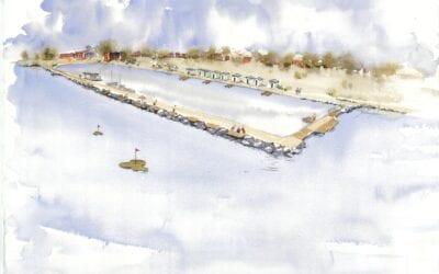 Bygglovsansökan är inlämnad för utbyggnad av lagunen